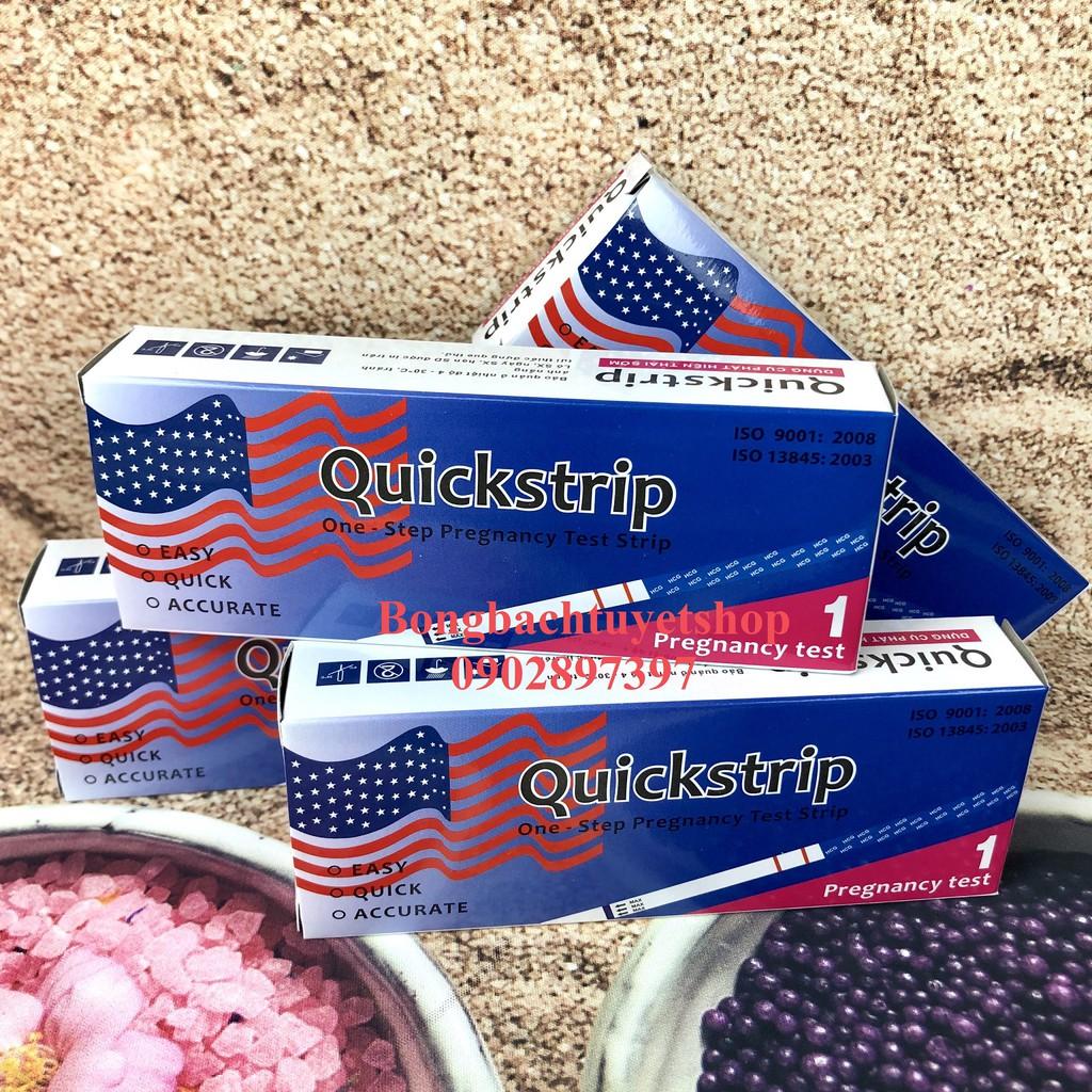 """Combo 4 Que Thử Thai Quickstrip có in hình lá cờ """" NHANH CHÓNG - ĐƠN GIẢN - CHÍNH XÁC - GIÁ RẺ"""""""