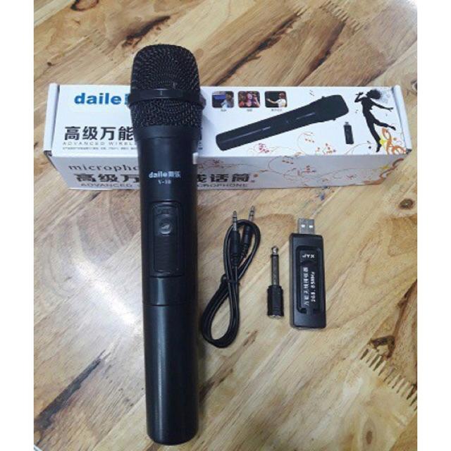 [SALE 10%] Micro karaoke không dây cho loa kéo Daile V10