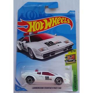 Xe mô hình Hot Wheels Lambor.ghini Countach Pace Car