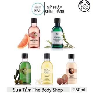 Sữa Tắm The Body Shop, The Body Shop Olive – Pink Grapefruit – Moringa – Shea Shower Cream – Tea Tree 250ml