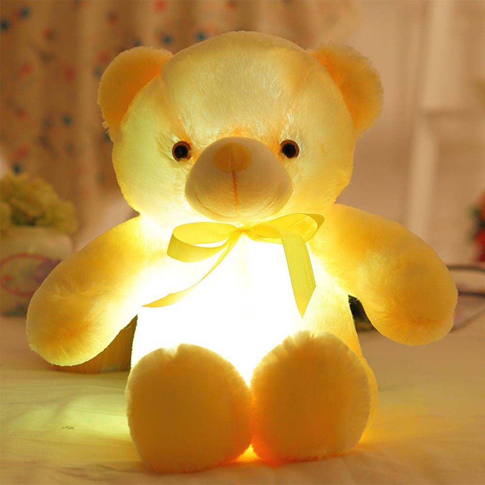 LED Glowing Plush Toy,Creative Light Up Teddy Bear Stuffed Animals Toy Colorful