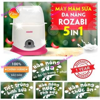 Máy hâm sữa tiệt trùng 2 bình cổ rộng 5 chức năng ROZABI