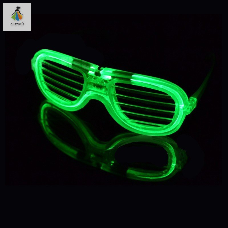 Led 3 Mode Led Flashing Glow Shutter Glasses EL Glasses with Battery for Event Party Supplies