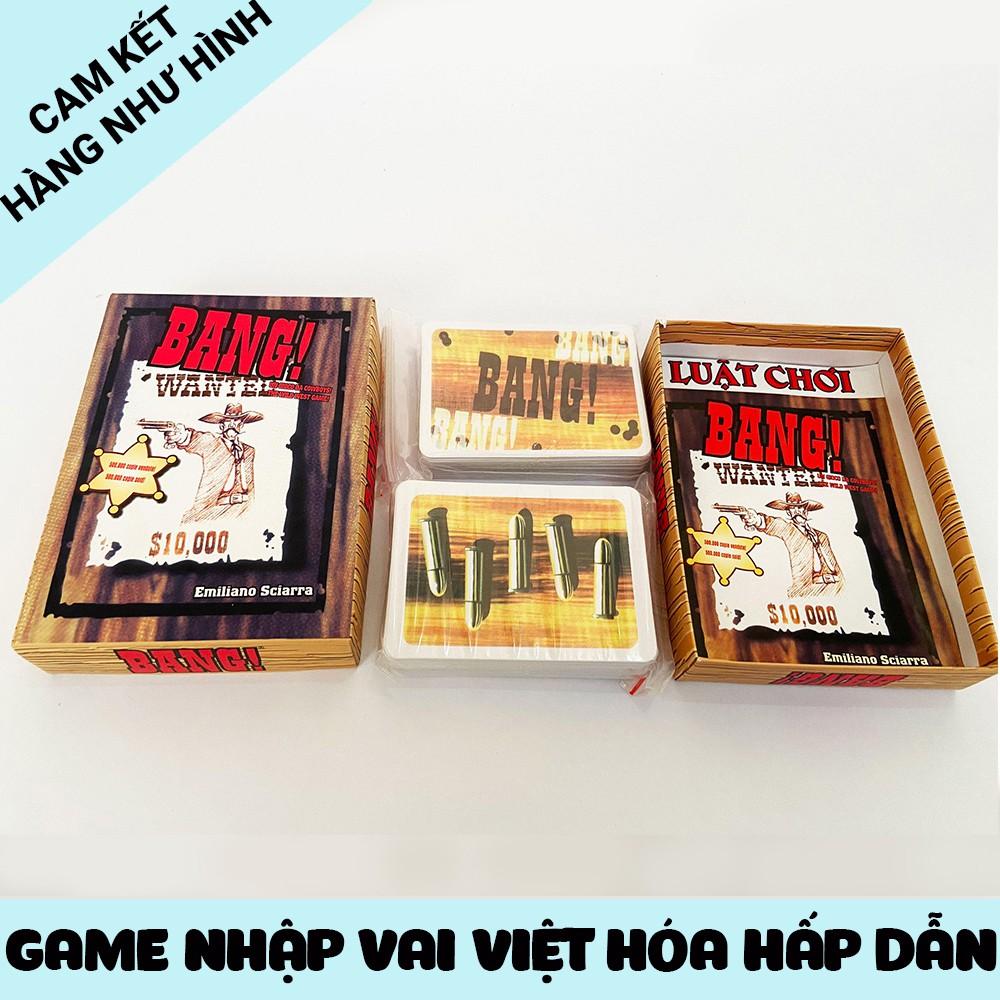 Đồ chơi thẻ bài Bang! Board game nhập vai cao bồi bắn súng, giá rẻ, dễ chơi cho cả trẻ em và người lớn từ 4 - 7 người