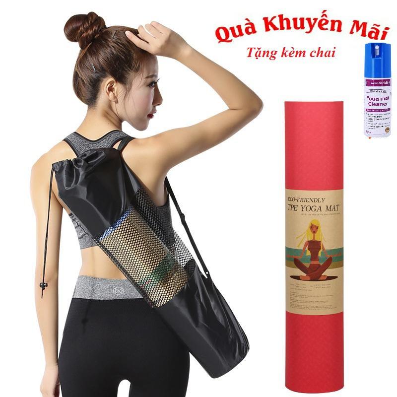 SALE- Thảm yoga 6mm TPE 2 lớp( Tặng túi lưới +chai xịt) - 10082334 , 1351587590 , 322_1351587590 , 219000 , SALE-Tham-yoga-6mm-TPE-2-lop-Tang-tui-luoi-chai-xit-322_1351587590 , shopee.vn , SALE- Thảm yoga 6mm TPE 2 lớp( Tặng túi lưới +chai xịt)