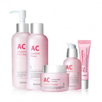 Bộ 5 sản phẩm dưỡng da cao cấp dành cho da nhạy cảm, da dầu, da mụn AC Sensitive Skin Care - Skinaz - 13677125 , 1250211584 , 322_1250211584 , 4066000 , Bo-5-san-pham-duong-da-cao-cap-danh-cho-da-nhay-cam-da-dau-da-mun-AC-Sensitive-Skin-Care-Skinaz-322_1250211584 , shopee.vn , Bộ 5 sản phẩm dưỡng da cao cấp dành cho da nhạy cảm, da dầu, da mụn AC Sen