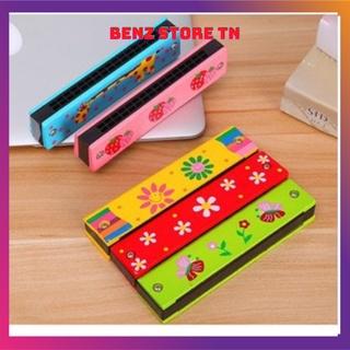 Kèn Hacmonica gỗ 16 lỗ cho trẻ em giúp các bé phát triển trí thông minh và tư duy âm nhạc thumbnail