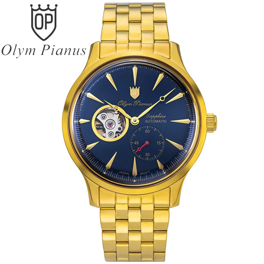 Đồng hồ nam dây kim loại Automatic Olym Pianus OP99141-77 OP99141-77AGK xanh lam