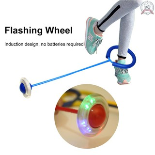 J&F Funny Bouncing Balls One Foot Flashing Skip Ball Jump Ropes Sports Swing Ball Children Fitness Playing Entertainment