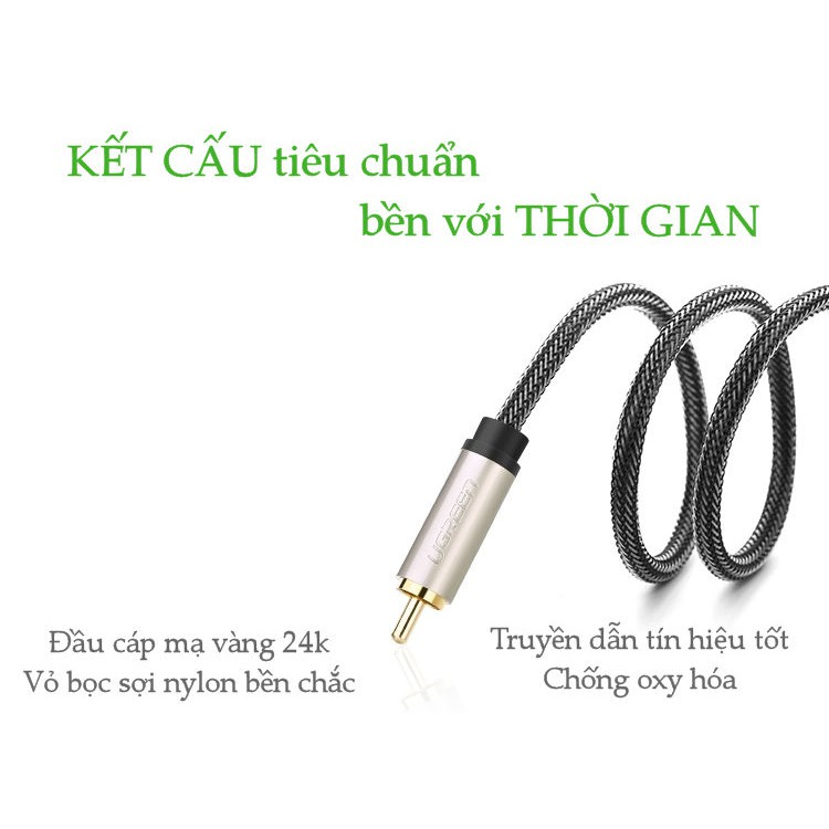 Cáp Audio 3.5mm digital sang RCA Coaxial UGREEN AV132