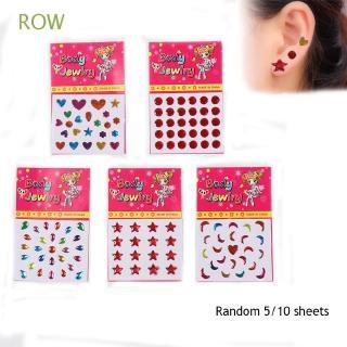 ROW Random 5/10 Sheets Christmas Gift Kids Girls Body Bag DIY Phone Sticker Party|Stickers