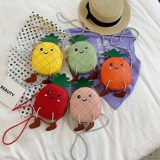 Túi đeo chéo dễ thương hình QUẢ DỨA phong cách Hàn Quốc cho bé gái TX01