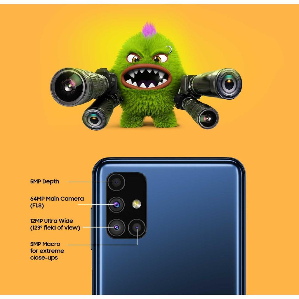 Điện thoại Samsung Galaxy M51 4 camera chính, pin 7000mAh cực khủng - Hàng  Chính Hãng