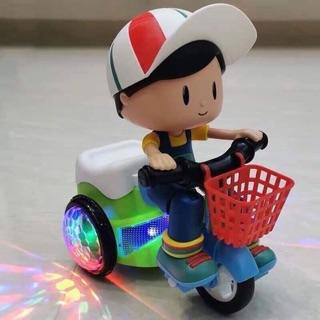 Đồ chơi xe đạp xoay bốc đầu cho bé