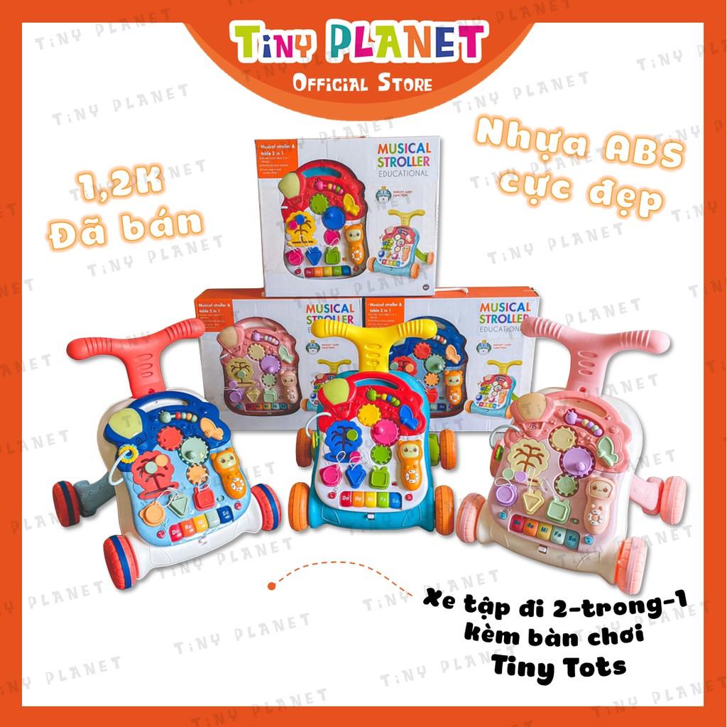 Xe tập đi đa chức năng chống vòng kiềng kèm bàn chơi phát nhạc Tiny Tots