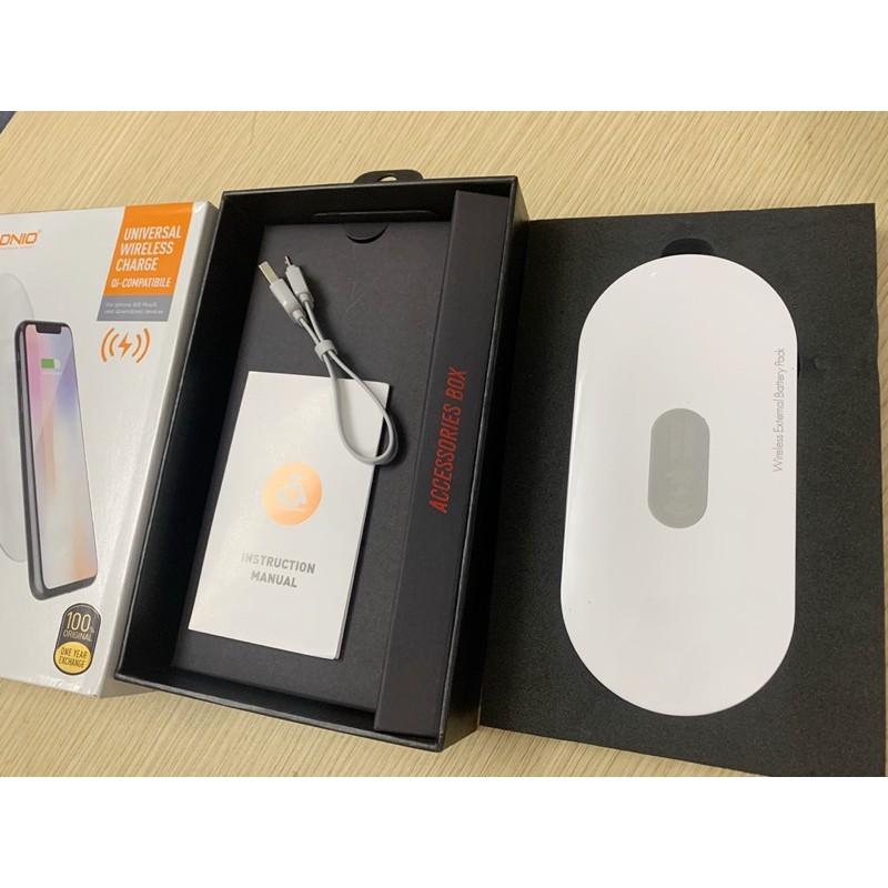 Pin sạc dự phòng không dây 10000mAh LDNIO Sạc được bằng cáp iPhone cho IP 11 12 iPad Samsung Oppo xiaomi xịn chính hãng