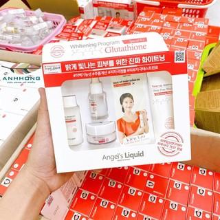 Bộ Kit Angel's Liquid 7Day Dưỡng Sáng Da, Mờ Thâm Nám 4 Món Whitening Program Glutathione Special Kit
