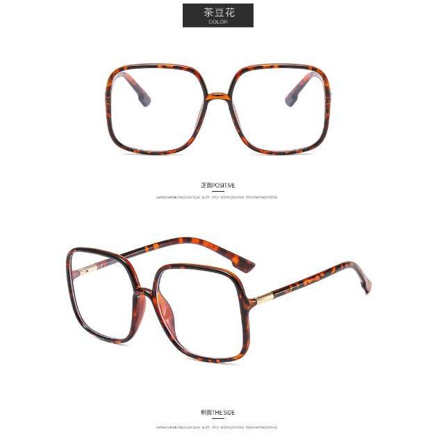 GD Big frame green glasses frame Zhou Yangqing anti-blue light glasses frame square flat mirror trend frame glasses