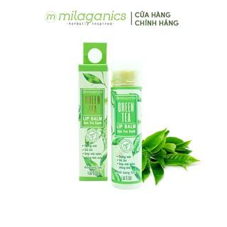 Son Dưỡng Môi thành phần thiên nhiên Trà xanh MILAGANICS 4.5g giúp cấp ẩm ngày đêm cho môi hồng, ngừa nứt nẻ thumbnail