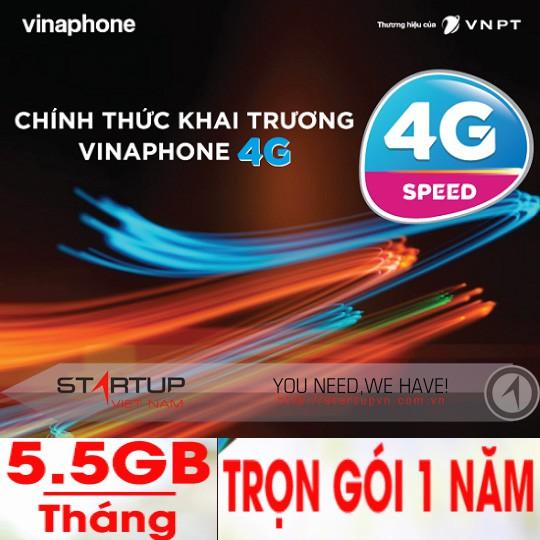 Sim 4G Vinaphone Miễn Phí Data 1 Năm D500 , HEY TR