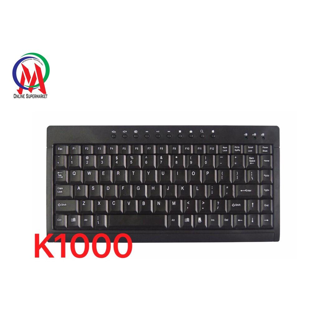 Bàn Phím Mini multimedia K1000 - 3169092 , 1206038660 , 322_1206038660 , 89000 , Ban-Phim-Mini-multimedia-K1000-322_1206038660 , shopee.vn , Bàn Phím Mini multimedia K1000