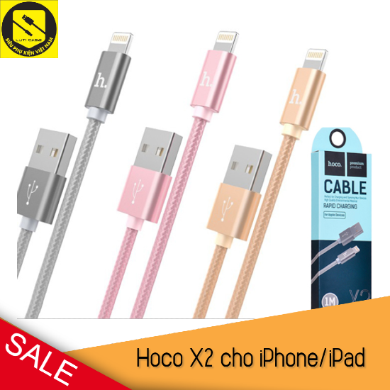 [FREESHIP50K] Cáp Sạc iPhone Lightning Hoco X2 ✓ Dài 1M ✓ Sạc Nhanh Chính Hãng