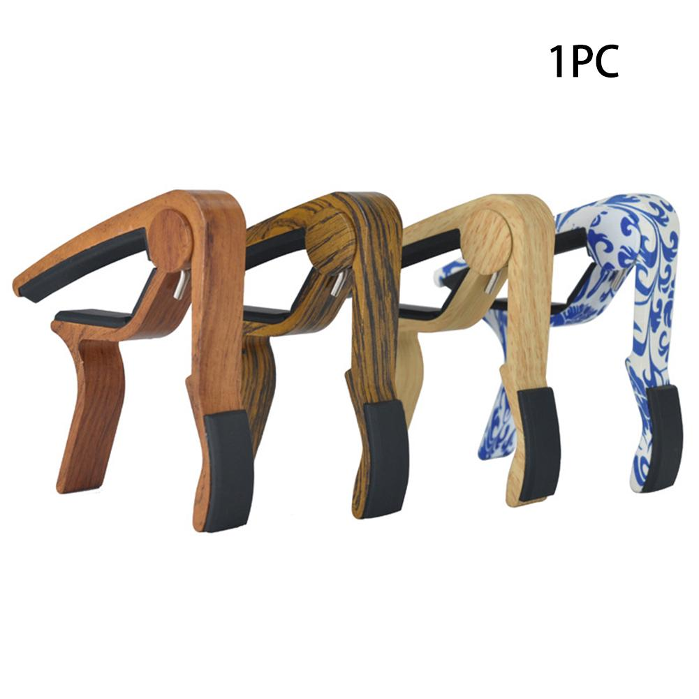 Guitar Tuner Quick Key Change Wood Fit Clip Classical Acoustic Capo Professional MA-10ABCD Accessory