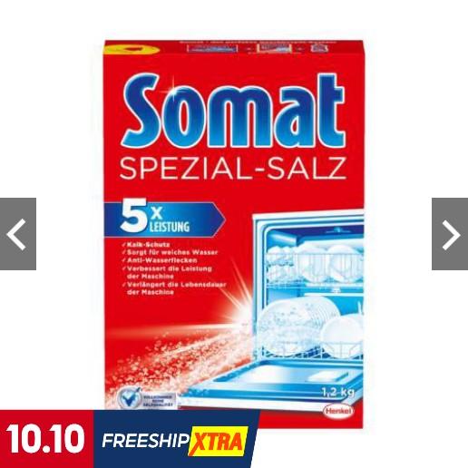 [Mã 267FMCGSALE giảm 8% đơn 500K] Muối rửa bát Somat hộp 1.2kg (Nk Đức )