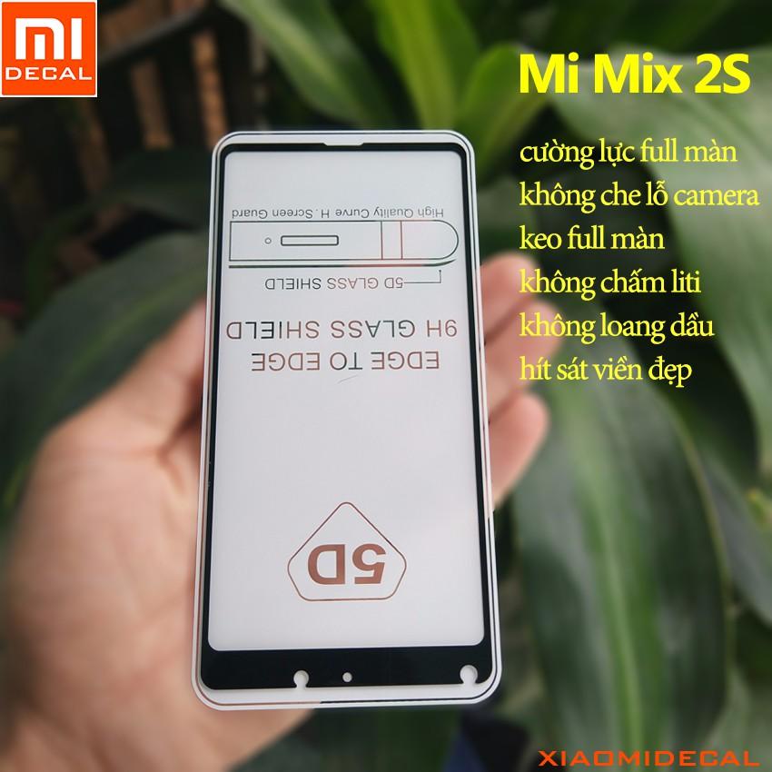 [ Xiaomi Mi Mix 2S ] kính cường lực cao cấp 5D full màn hình - Đen
