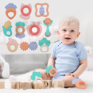 7pcs/10pcs Baby Toys Teething Kids Educational Crib Rattle Baby Teether Toy Set