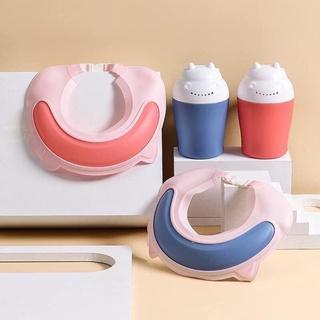 Mũ Tắm Silicon Chống Bắn Nước Kèm Ca Gội Đầu Cho Bé thumbnail