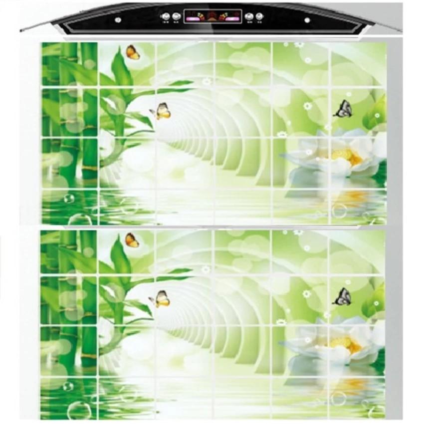 Miếng dán cách nhiệt bếp chống bẩn dầu mỡ KT 60x90 (giao màu theo từng lô hàng)