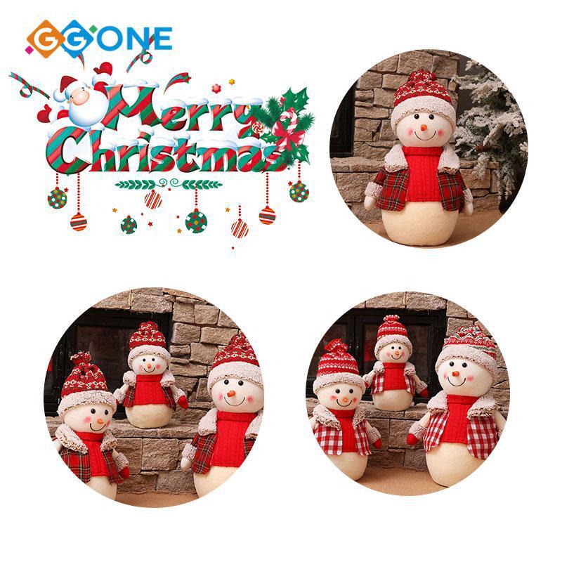 GG① Gift Snowman Doll Cotton Cloth Christmas Ornament Funny Scene Props