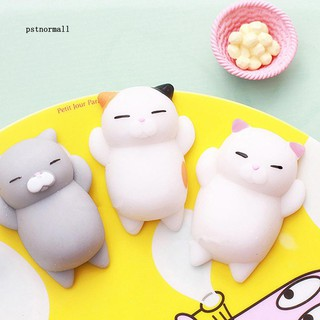 PST-Cute Cartoon Cat Squishy Toy Stress Relief Soft Mini Animal Squeeze Toy Gift