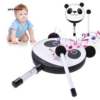 AE♥Cartoon Panda Handheld Tambourine Drum Mallet Percussion Instrument Kids Toy