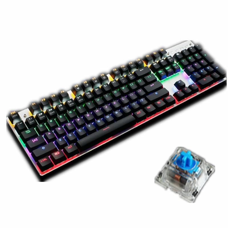 Bàn phím cơ game thủ zero full 104 key đèn Led 13 chế độ