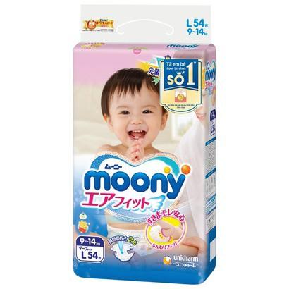 [Hà Nội] Tã-bỉm dán cao cấp Moony L54 - Nhập khẩu từ Nhậ