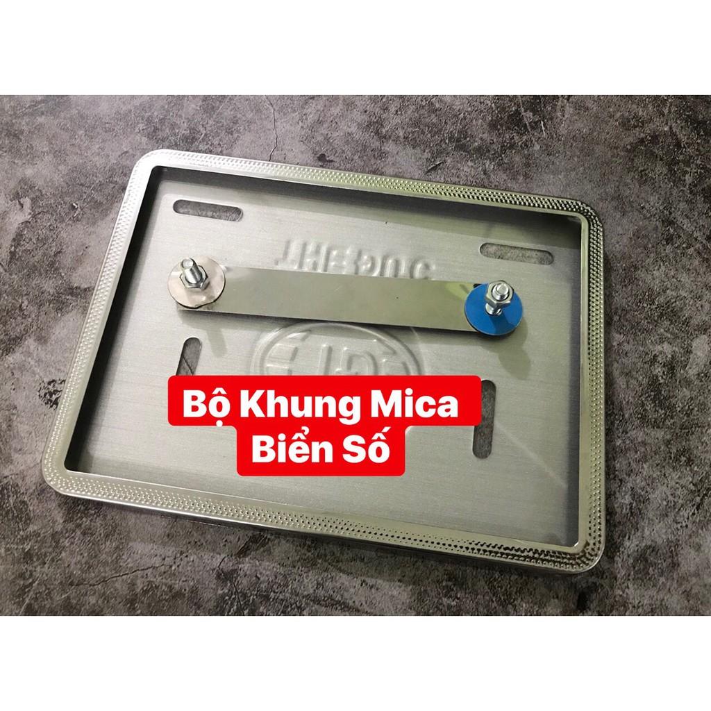 Bộ ốp biển số Titan 7 màu / Inox (khung biển / bảng số 7 màu)