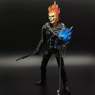 Marvel Ghost Rider Johnny Blaze PVC Action Figure Collectible Model Kids Toys Doll 23CM