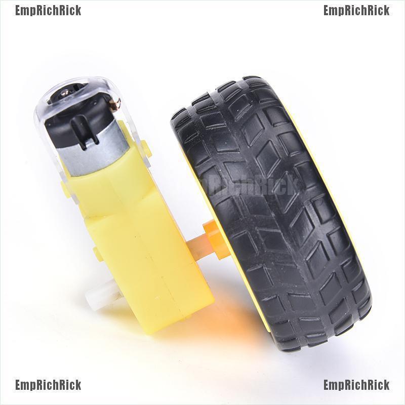 Bánh Xe Nhựa Thông Minh Emprichrick Với Động Cơ Dc 3-6v Cho Robot Arduino