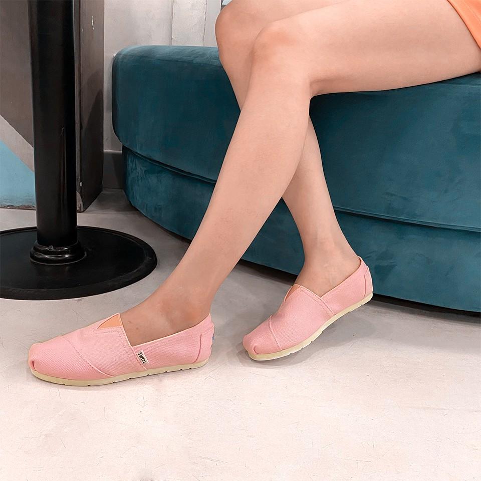 Giày toms HỒNG 2020, PINK(Đế cao su đúc)