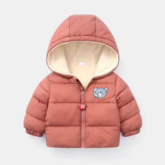 Thumbnail of Áo phao gấu có mũ, lót nỉ hàng xuất Châu Âu siêu ấm áp cho bé yêu