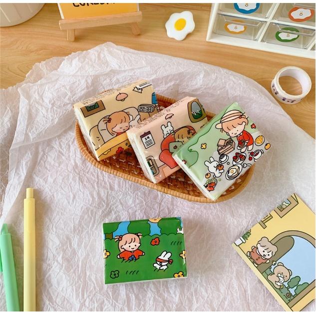 Khăn giấy mini - Khăn Giấy Bỏ Túi Họa Tiết Hình Cô Gái Dễ Thương - Túi Giấy Khô Tiện lợi