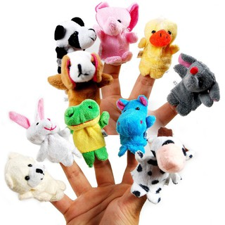 Bộ sưu tập rối ngón tay 10 con vật đáng yêu như thật thumbnail