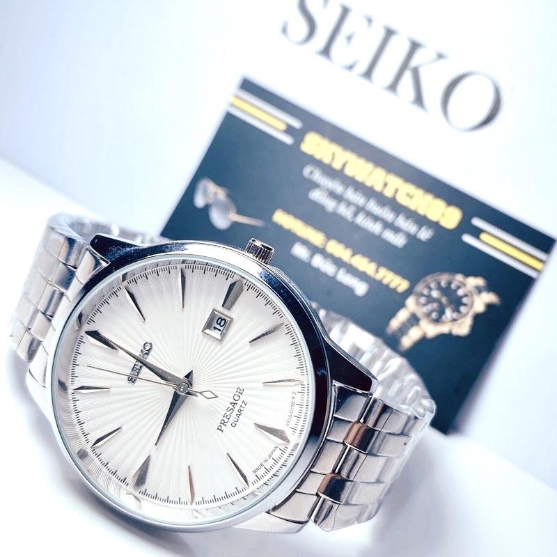 Đồng hồ nam Seik.0 dây kim loại Khung thép không gỉ , Mặt kính cong chống sước ,Giá rẻ không ở đâu rẻ hơn
