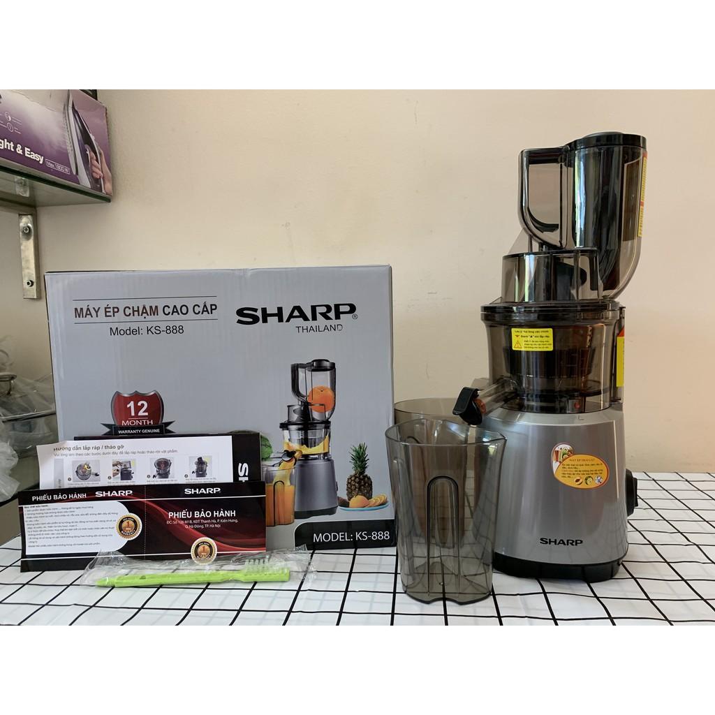 (Mã CHUTHI56 giảm 10K) Máy ép chậm cao cấp Sharp KS-888(Tặng 3 bình nước cao cấp) - Made in Thailand, New 2021