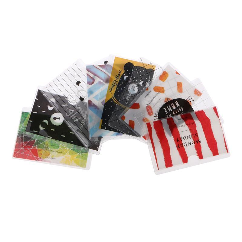 Túi nhựa PVC nhiều ngăn đựng thẻ in hình hoạt hình dễ thương