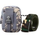 Túi Đeo Hông Cao Cấp Và Thắt Lưng Dù Chiến Thuật Đi Phượt TL8057 923 + Tặng 1 da gấp thẻ ATM M 473.