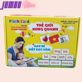 Thẻ học thông minh size lớn nhất A5 15x21 cm kết hợp dạy trẻ đọc sớm 2 trong 1 Jumbo