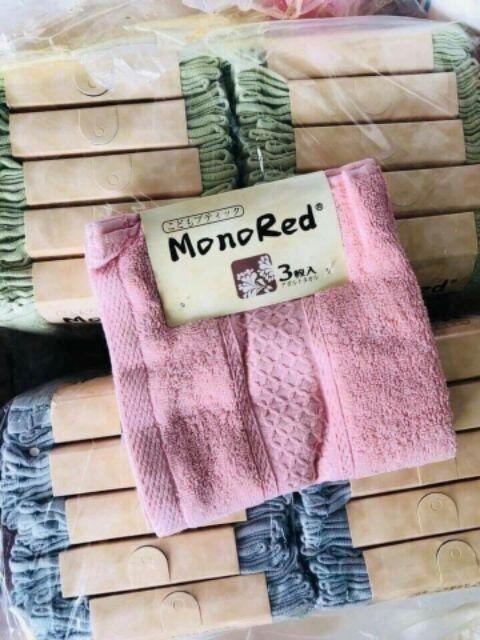Sét 3 khăn mặt nhật monored 34*34cm